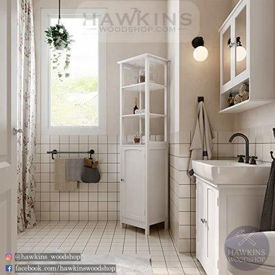 Shop hawkinswoodshop.com for discounted solid wood & metal modern, traditional, contemporary, custom & farmhouse furniture including our Free Standing Tall Cabinet, Multifunctional Bathroom Cabinet with 3 Tier Storage Shelf, Country Style Wooden Floor Cabinet.  Ask about our free delivery & assembly collections today!