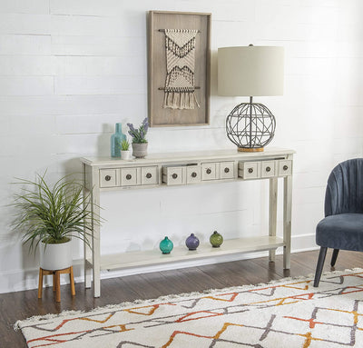 Enjoy fast, free nationwide shipping!  Owned by a husband and wife team of high-school music teachers, HawkinsWoodshop.com is your one stop shop for affordable furniture.  Shop HawkinsWoodshop.com for solid wood & metal modern, traditional, contemporary, industrial, custom, rustic, and farmhouse furniture including our Multicolor Sadie Cream Long Storage Table.