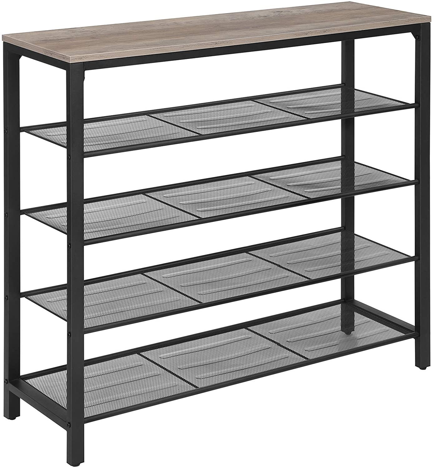 Enjoy fast, free nationwide shipping!  Owned by a husband and wife team of high-school music teachers, HawkinsWoodshop.com is your one stop shop for affordable furniture.  Shop HawkinsWoodshop.com for solid wood & metal modern, traditional, contemporary, industrial, custom, rustic, and farmhouse furniture including our Greige & Black Shoe Rack.