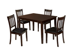 Beckham Counter Height 5-Piece Hardwood Dining Room Table Set