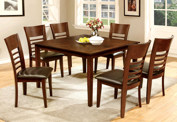 Othello 7-Piece Hardwood Dining Room Table Set