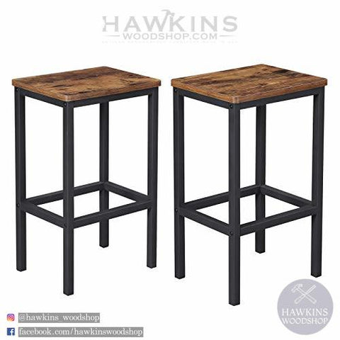 Shop hawkinswoodshop.com for discounted solid wood & metal modern, traditional, contemporary, custom & farmhouse furniture including our Bar Stools, Set of 2 Bar Chairs, Kitchen Breakfast Bar Stools with Footrest, Industrial, in Living Room, Party Room, Rustic Brown LBC65X. Ask about our free nationwide freight delivery and low cost assembly services.