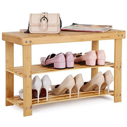 Enjoy fast, free nationwide shipping!  Owned by a husband and wife team of high-school music teachers, HawkinsWoodshop.com is your one stop shop for affordable furniture.  Shop HawkinsWoodshop.com for solid wood & metal modern, traditional, contemporary, industrial, custom, rustic, and farmhouse furniture including our Bamboo 3-Tier Shoe Bench.