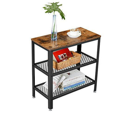 Shop hawkinswoodshop.com for discounted solid wood & metal modern, traditional, contemporary, custom & farmhouse furniture including our Side Table, End Table, Decorative Table with 2 Mesh Shelves Narrow Industrial Design with Free Shipping.  Ask about our free delivery & assembly collections today!