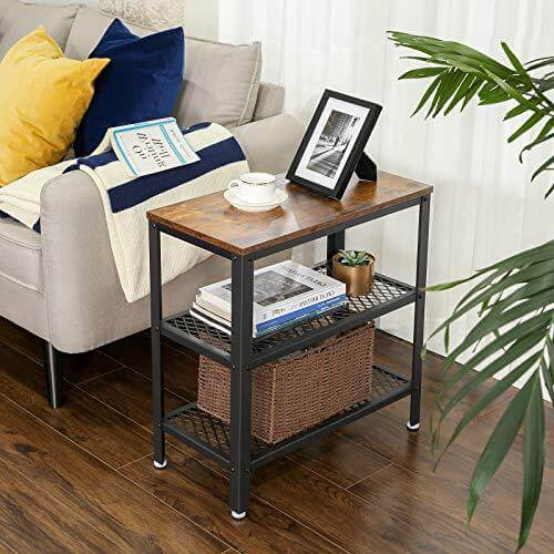 Enjoy fast, free nationwide shipping!  Owned by a husband and wife team of high-school music teachers, HawkinsWoodshop.com is your one stop shop for affordable furniture.  Shop HawkinsWoodshop.com for solid wood & metal modern, traditional, contemporary, industrial, custom, rustic, and farmhouse furniture including our Side Table, End Table, Decorative Table with 2 Mesh Shelves Narrow Industrial Design with Free Shipping.