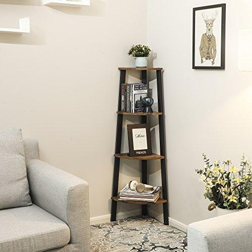 Enjoy fast, free nationwide shipping!  Family owned and operated, HawkinsWoodshop.com is your one stop shop for affordable furniture.  Shop HawkinsWoodshop.com for solid wood & metal modern, traditional, contemporary, industrial, custom, rustic, and farmhouse furniture including our Corner Shelf 4-Tier Industrial Storage Shelf Ladder Bookcase.