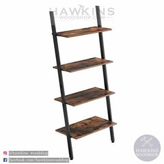 Shop hawkinswoodshop.com for discounted solid wood & metal modern, traditional, contemporary, industrial, custom & farmhouse furniture including our Shelving Unit Ladder Shelving Wall Shelf 4 Tier Industrial Design Bookcase Shelving Shelving Living Room Kitchen Office Iron Stable Slanted Wall Shelf.  Ask about our free nationwide freight delivery and low cost assembly services.