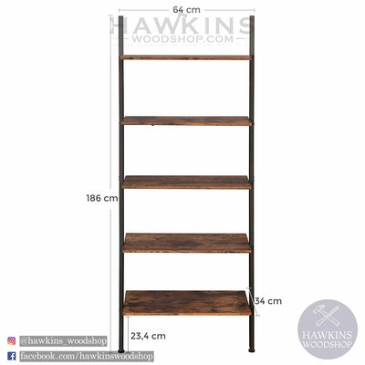 Shop hawkinswoodshop.com for solid wood & metal modern, traditional, contemporary, industrial, custom, rustic, and farmhouse furniture including our Industrial Ladder Shelf 5-Tier Bookshelf Rack, Wall Shelf for Living Room Kitchen Office Solid Iron.  Ask about our free nationwide delivery service.