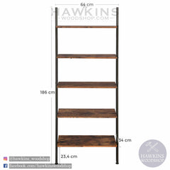 Shop hawkinswoodshop.com for solid wood & metal modern, traditional, contemporary, industrial, custom & farmhouse furniture including our Industrial Ladder Shelf 5-Tier Bookshelf Rack, Wall Shelf for Living Room Kitchen Office Solid Iron.  Ask about our free nationwide freight delivery and low cost white glove assembly services.