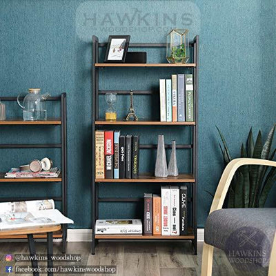 Enjoy fast, free nationwide shipping!  Family owned and operated, HawkinsWoodshop.com is your one stop shop for affordable furniture.  Shop HawkinsWoodshop.com for solid wood & metal modern, traditional, contemporary, industrial, custom, rustic, and farmhouse furniture including our Industrial 4-Tier Bookshelf.