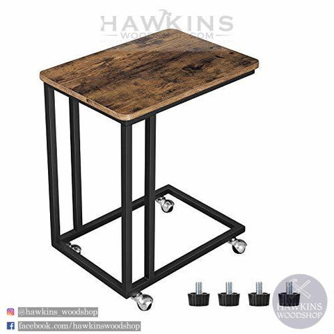 Shop hawkinswoodshop.com for discounted solid wood & metal modern, traditional, contemporary, industrial, custom & farmhouse furniture including our Mobile Side End Table.  Ask about our free nationwide freight delivery and low cost assembly services.