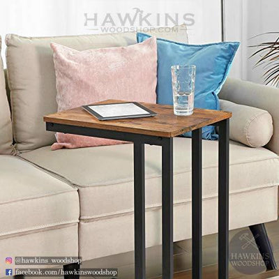 Shop hawkinswoodshop.com for discounted solid wood & metal modern, traditional, contemporary, custom & farmhouse furniture including our Side, End Table, Nightstand with Mesh Shelf Industrial.  Ask about our free delivery & assembly collections today!