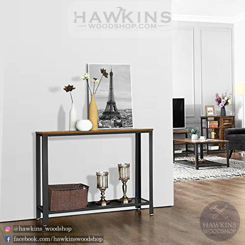 Shop hawkinswoodshop.com for discounted solid wood & metal modern, traditional, contemporary, industrial, custom & farmhouse furniture including our Vintage Entryway Console Table.  Ask about our free nationwide freight delivery and low cost assembly services.