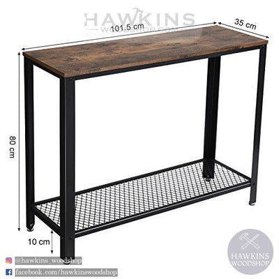 Enjoy fast, free nationwide shipping!  Family owned and operated, HawkinsWoodshop.com is your one stop shop for affordable furniture.  Shop HawkinsWoodshop.com for solid wood & metal modern, traditional, contemporary, industrial, custom, rustic, and farmhouse furniture including our Vintage Entryway Console Table.