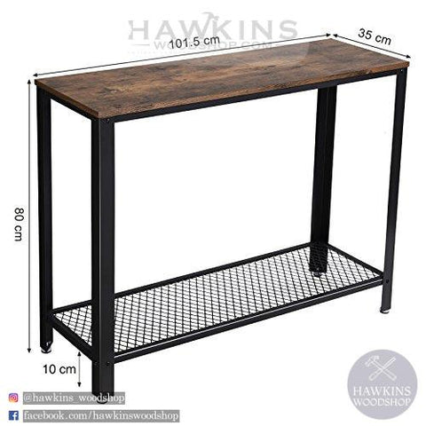Shop hawkinswoodshop.com for solid wood & metal modern, traditional, contemporary, industrial, custom, rustic, and farmhouse furniture including our Vintage Entryway Console Table.  Ask about our free nationwide delivery service.