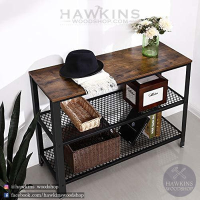 Shop hawkinswoodshop.com for solid wood & metal modern, traditional, contemporary, industrial, custom, rustic, and farmhouse furniture including our Console table.  Ask about our free nationwide delivery service.