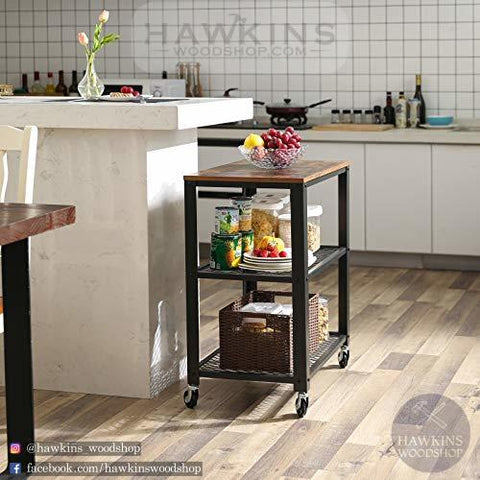 Shop hawkinswoodshop.com for solid wood & metal modern, traditional, contemporary, industrial, custom, rustic, and farmhouse furniture including our Industrial Kitchen Serving Cart.  Ask about our free nationwide delivery service.