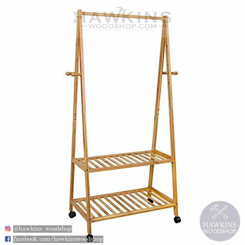 Shop hawkinswoodshop.com for discounted solid wood & metal modern, traditional, contemporary, industrial, custom & farmhouse furniture including our Rolling Coat Rack Bamboo Garment Rack Coat Clothes Hanging Rail 2 Tiers 4 Hooks for Shoe and Hat Rack.  Ask about our free nationwide freight delivery and low cost assembly services.
