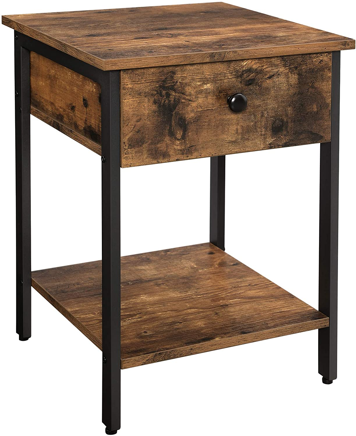 Enjoy fast, free nationwide shipping!  Owned by a husband and wife team of high-school music teachers, HawkinsWoodshop.com is your one stop shop for affordable furniture.  Shop HawkinsWoodshop.com for solid wood & metal modern, traditional, contemporary, industrial, custom, rustic, and farmhouse furniture including our Rustic Brown and Black Side Table.