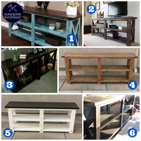 Shop hawkinswoodshop.com for solid wood & metal modern, traditional, contemporary, industrial, custom & farmhouse furniture including our Custom Built-to-Order Rustic X Console Table.  Ask about our free nationwide freight delivery and low cost white glove assembly services.