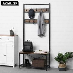 Enjoy fast, free nationwide shipping!  Owned by a husband and wife team of high-school music teachers, HawkinsWoodshop.com is your one stop shop for affordable furniture.  Shop HawkinsWoodshop.com for solid wood & metal modern, traditional, contemporary, industrial, custom, rustic, and farmhouse furniture including our Industrial Hall Tree Coat Rack.
