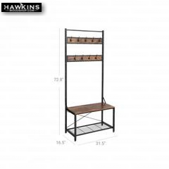 Shop hawkinswoodshop.com for solid wood & metal modern, traditional, contemporary, industrial, custom & farmhouse furniture including our Industrial Hall Tree Coat Rack.  Ask about our free nationwide freight delivery and low cost white glove assembly services.