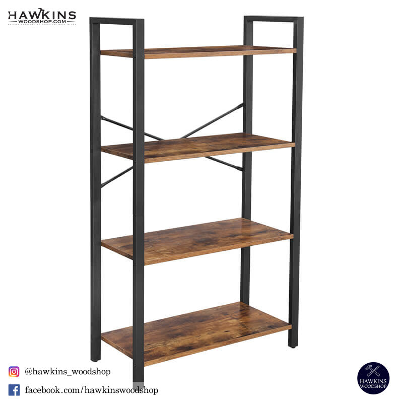 Enjoy fast, free nationwide shipping!  Owned by a husband and wife team of high-school music teachers, HawkinsWoodshop.com is your one stop shop for affordable furniture.  Shop HawkinsWoodshop.com for solid wood & metal modern, traditional, contemporary, industrial, custom, rustic, and farmhouse furniture including our Industrial 4-Tier Bookshelf.