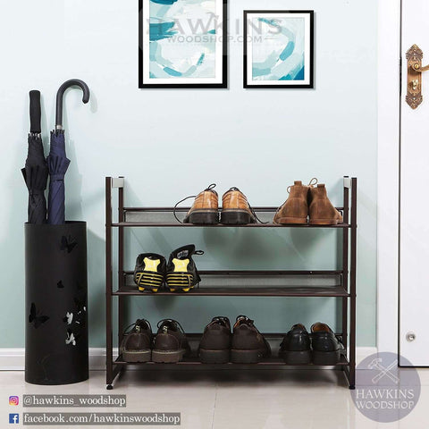Shop hawkinswoodshop.com for discounted solid wood & metal modern, traditional, contemporary, industrial, custom & farmhouse furniture including our 3-Tier Stackable Metal Shoe Organizer.  Ask about our free nationwide freight delivery and low cost assembly services.