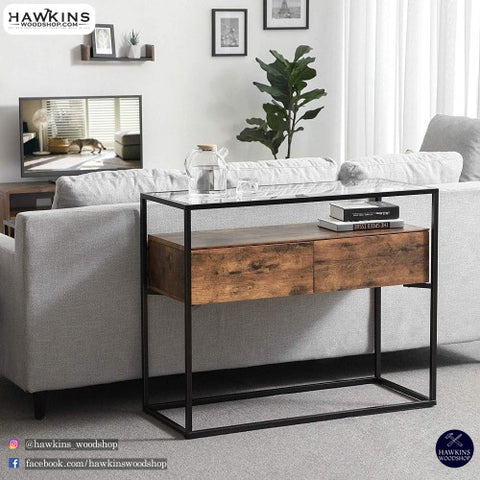 Shop hawkinswoodshop.com for solid wood & metal modern, traditional, contemporary, industrial, custom, rustic, and farmhouse furniture including our Glass Industrial Console Table Free Shipping.  Ask about our free nationwide delivery service.