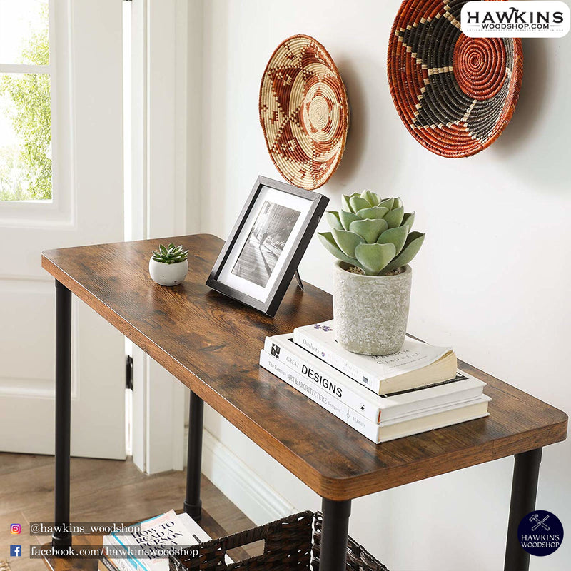 Shop hawkinswoodshop.com for discounted solid wood & metal modern, traditional, contemporary, custom & farmhouse furniture including our Industrial Metal Pipe Console Table Free Shipping.  Ask about our free delivery & assembly collections today!