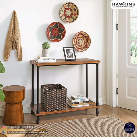Shop hawkinswoodshop.com for solid wood & metal modern, traditional, contemporary, industrial, custom, rustic, and farmhouse furniture including our Industrial Metal Pipe Console Table Free Shipping.  Ask about our free nationwide delivery service.