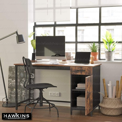 Shop hawkinswoodshop.com for solid wood & metal modern, traditional, contemporary, industrial, custom, rustic, and farmhouse furniture including our Ryan Side-Cabinet Computer Desk.  Ask about our free nationwide delivery service.