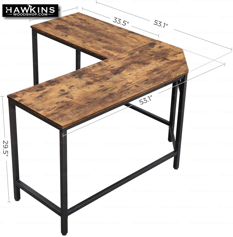 Shop hawkinswoodshop.com for solid wood & metal modern, traditional, contemporary, industrial, custom, rustic, and farmhouse furniture including our Ryan II L-Shaped Desk w/Metal Base & Wood Top.  Enjoy free nationwide shipping, help with the fight against hunger in the US, and support a family owned and operated business that helps puts food on the table for folks in rural Northern California.