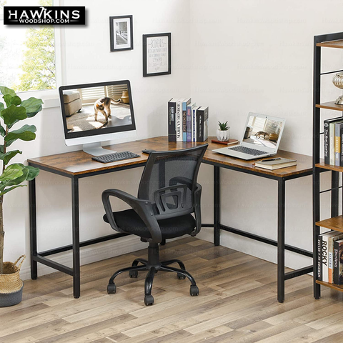 Shop hawkinswoodshop.com for discounted solid wood & metal modern, traditional, contemporary, industrial, custom & farmhouse furniture including our Ryan II L-Shaped Desk w/Metal Base & Wood Top.  Ask about our free nationwide freight delivery and low cost assembly services.
