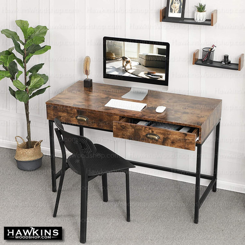 Shop hawkinswoodshop.com for discounted solid wood & metal modern, traditional, contemporary, custom & farmhouse furniture including our Ryan Industrial Farmhouse Desk w/ Drawers. Ask about our free nationwide freight delivery and low cost assembly services.