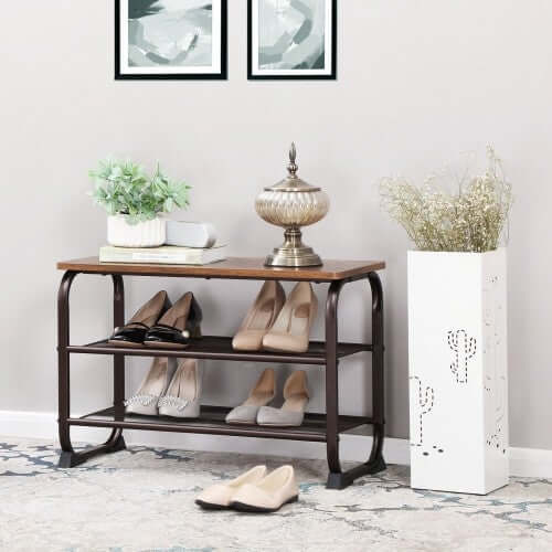 Shop hawkinswoodshop.com for discounted solid wood & metal modern, traditional, contemporary, custom & farmhouse furniture including our Industrial Shoe Bench Storage Rack. Ask about our free nationwide freight delivery or assembly services today.