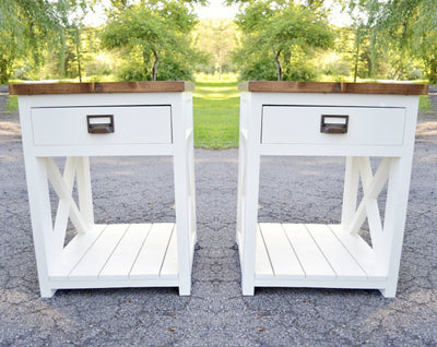 Custom Pair of Farmhouse Nightstands (includes 2)