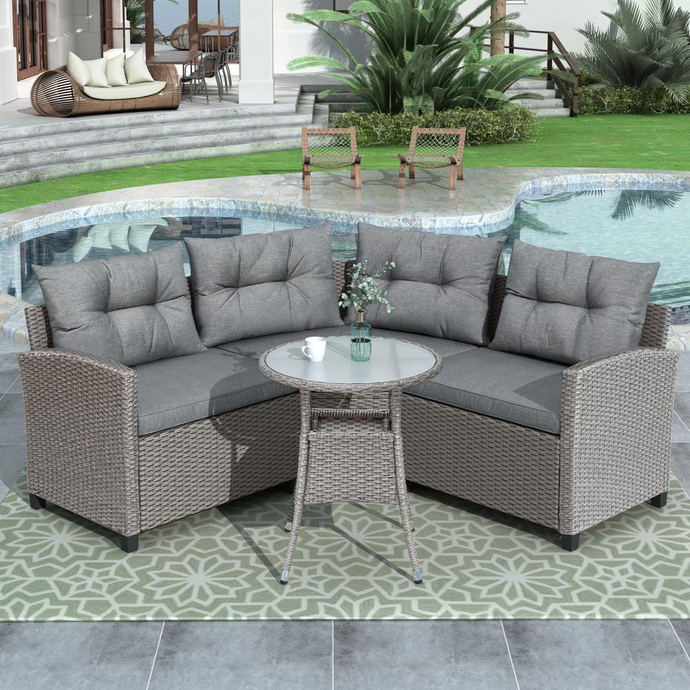 Shop hawkinswoodshop.com for discounted solid wood & metal modern, traditional, contemporary, custom & farmhouse furniture including our 4-Piece Wicker Outdoor Set w/ Round Table & Gray Cushions. Ask about our free nationwide freight delivery or assembly services today.