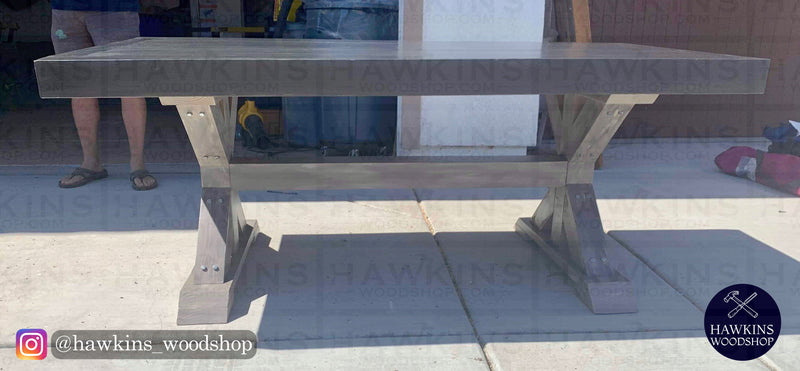 "Shop hawkinswoodshop.com for discounted solid wood & metal modern, traditional, contemporary, custom & farmhouse furniture including our Chunky 4x4 Farmhouse Table - Choose your Own Length x 38"" W x 30"" H. Ask about our free nationwide freight delivery or assembly services today."