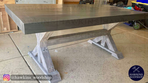 "Shop hawkinswoodshop.com for discounted solid wood & metal modern, traditional, contemporary, custom & farmhouse furniture including our Custom Chunky 4x4 Farmhouse Table - Choose your Own Length x 38"" W x 30"" H. Ask about our free nationwide freight delivery and low cost assembly services."