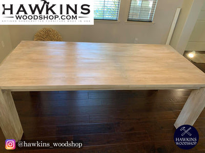 "Enjoy fast, free nationwide shipping!  Family owned and operated, HawkinsWoodshop.com is your one stop shop for affordable furniture.  Shop HawkinsWoodshop.com for solid wood & metal modern, traditional, contemporary, industrial, custom, rustic, and farmhouse furniture including our Modern Custom Built-to-Order Farmhouse Dining Table - Choose Own Length x 38"" W x 30"" H."