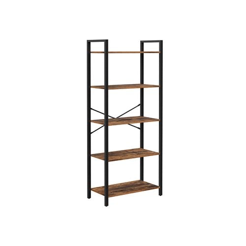 Industrial 5-Tier Bookshelf