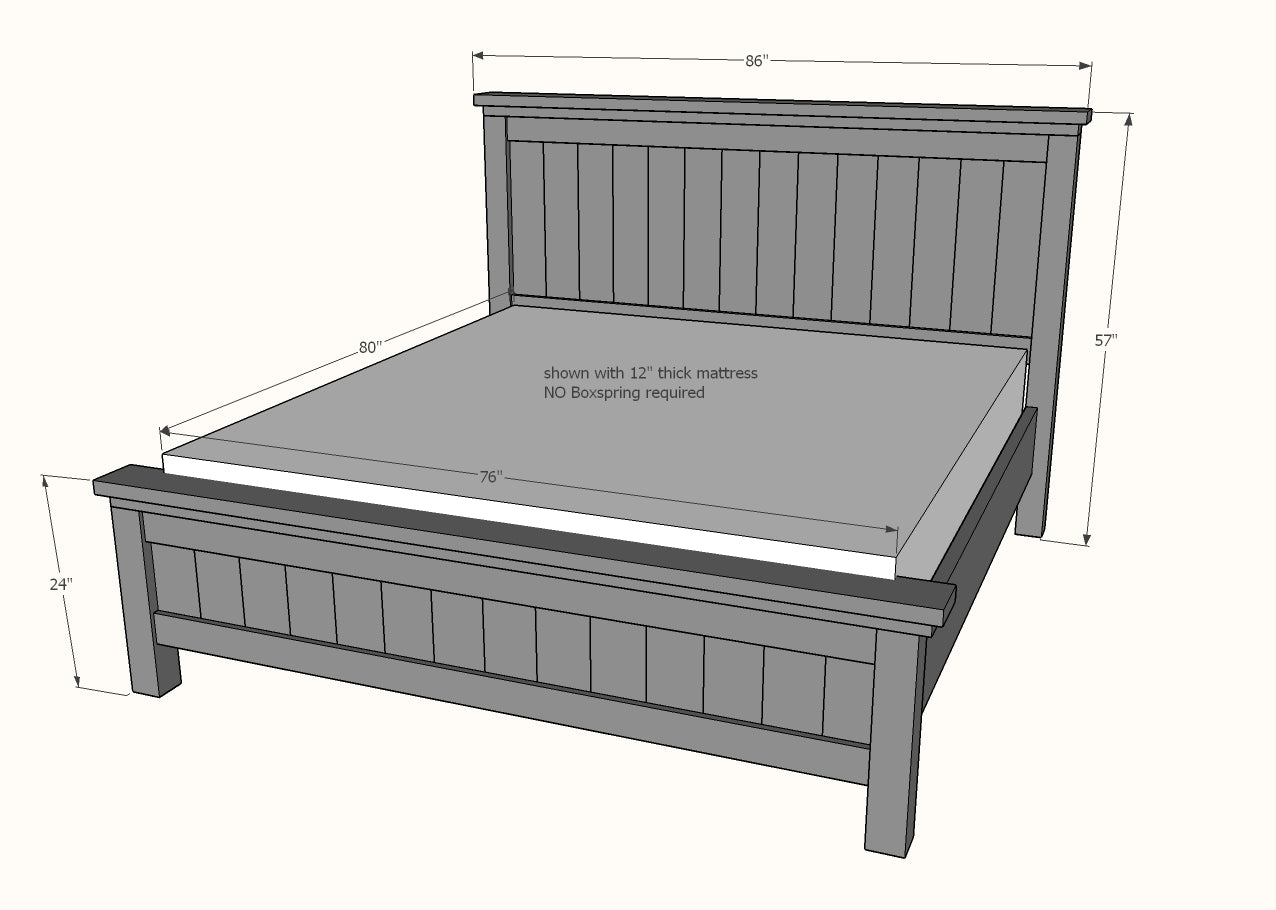 Made To Order Custom Rustic Farmhouse Beds King Size