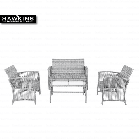 Shop hawkinswoodshop.com for discounted solid wood & metal modern, traditional, contemporary, custom & farmhouse furniture including our 4 Pc Gray Wicker Outdoor Furniture Set. Ask about our free nationwide freight delivery and low cost assembly services.