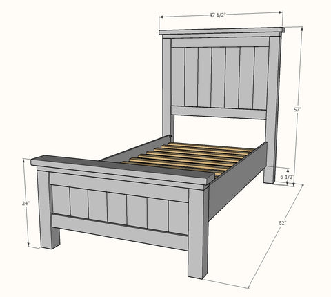 Shop hawkinswoodshop.com for solid wood & metal modern, traditional, contemporary, industrial, custom & farmhouse furniture including our Custom Rustic Farmhouse Bed - Twin Size.  Ask about our free nationwide freight delivery and low cost white glove assembly services.