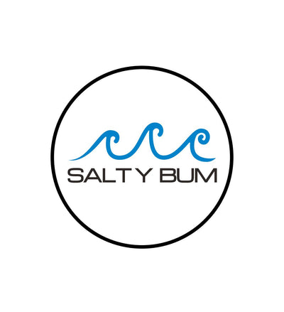 "Salty Bum Logo Round Sticker 3"" X 3"""