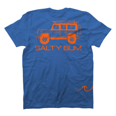 The Salty Bum Wonderer Tee Royal Blue
