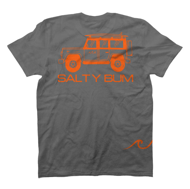 The Salty Bum Wonderer Tee Gray