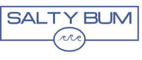 Salty Bum Chill Decal Blue