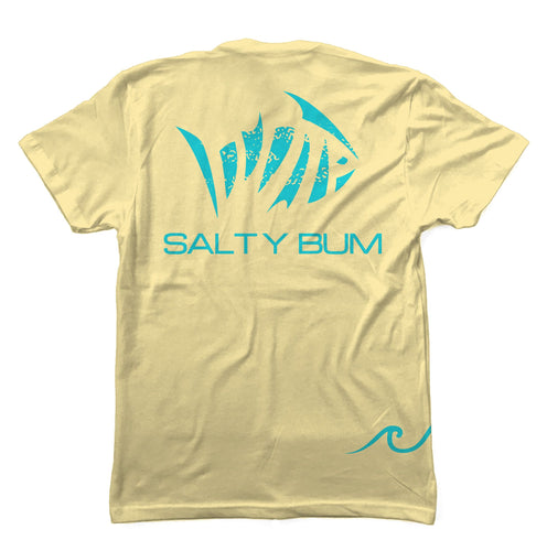 Salty Bum Fishin' Tee Yellow